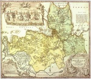 Шведская карта 1734 года - подробнее